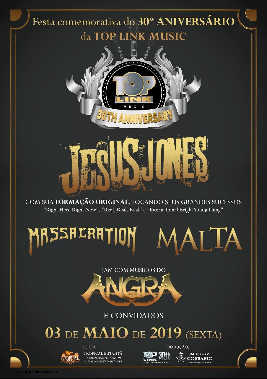 Jesus Jones, Massacration, Malta e jam com músicos do Angra
