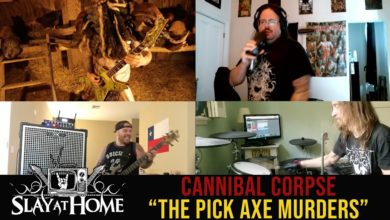 "Photo of Membros do GWAR, MEGADETH, SUICIDAL TENDENCIES e THE BLACK DAHLIA MURDER tocam CANNIBAL CORPSE no ""Slay at Home"""
